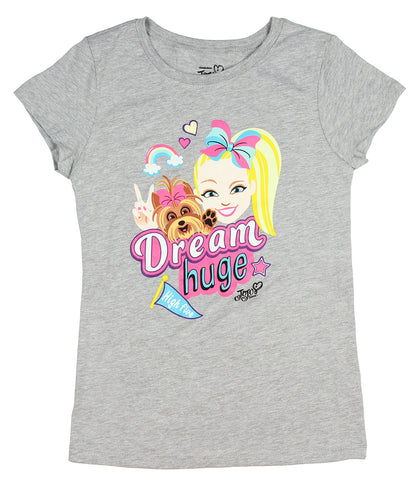 Nickelodeon Girls Jojo Siwa and Bow Bow Dream Huge Licensed T-Shirt