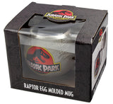 Jurassic Park Mug 25th Anniversary Raptor Egg Molded Ceramic Coffee Cup, 10 oz