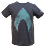 DC Comics Justice League Movie Men's Aquaman Logo T-Shirt