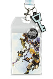 Disney Kingdom Hearts Lanyard ID Holder with Rubber Charm and Collectible Sticker