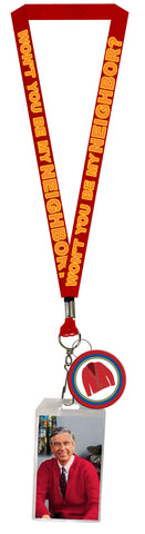 Mister Rogers Neighborhood Lanyard with Clear ID Badge Holder and Rubber Charm