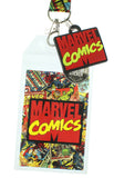 "Marvel Comics Page ID Lanyard Badge Holder With 1.5"" Rubber Charm Pendant"