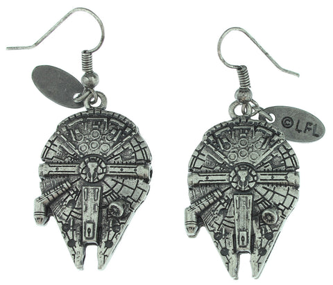Star Wars Millennium Falcon 3D Dangle Earrings