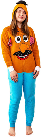 Disney Women's Toy Story Potato Sherpa Microfleece Costume Union Suit