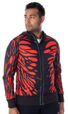 Marvel Comics Men's I Am Venom Carnage Reversible Costume Sweatshirt Full-Zip Hoodie w/ Mesh Mask