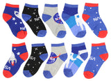 NASA Buzz Aldrin Youth Space 5 Pair Mix and Match Ankle Socks - Seven Times Six