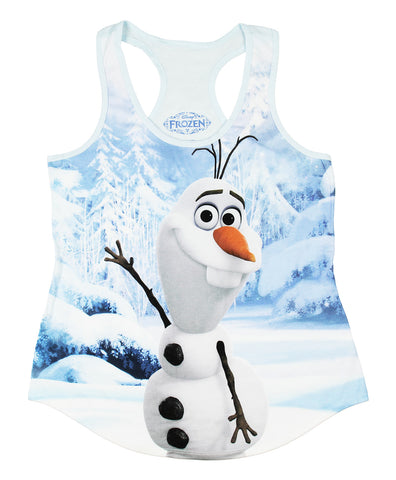 Disney Frozen Olaf Junior's Size Sublimated Tank Top Shirt