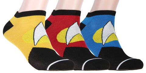 Star Trek Socks The Next Generation Ankle Socks Adult Men Women (3 Pack)