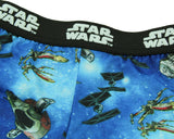 Star Wars Boys' Youth Starfighters Millennial Falcon Tie Fighter X-Wing Pajama Sleep Shorts