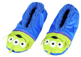 Disney Toy Story Aliens Little Green Men Character Slipper Socks with No-Slip Sole For Women Men