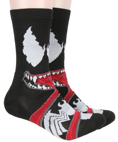 Marvel Venom Adult Character Savage Symbiote 1 Pair Mid-Calf Crew Socks For Men Women