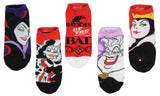 Disney Villains Socks Womens' 5 Pack Ankle No Show Socks - Seven Times Six