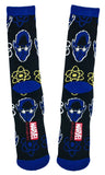 Marvel Comics X-Men Blue Beast Fusion Symbol Crew Socks