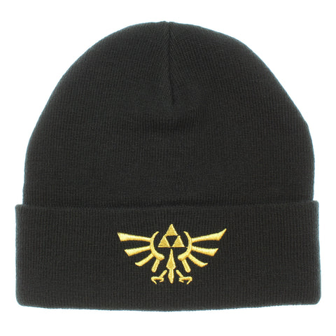 Legend Of Zelda Wingcrest Triforce Knit Cuff Beanie Hat Cap Men Women