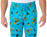 Sesame Street Men's Cookie Monster Savage Sleep Lounge Pajama Pants