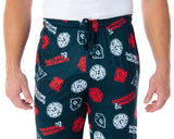 Dungeons and Dragon Men's Allover Game Dice Print Lounge Pajama Pants