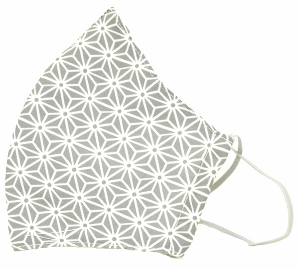 Grey/Flower design/Premium Reusable Masks (w/ optional filter insert pocket) - Limited Edition Prints