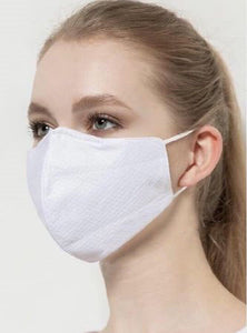 White Reusable Triple-Layer Cloth Face Mask (5 masks per pack)  *IN-STOCK & ships from California*