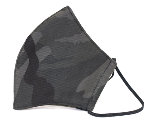 Black camo Premium Reusable Masks (w/ optional filter insert pocket) - Limited Edition Prints