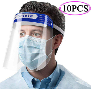 Transparent Safety Face Shield (10 pack)  *IN-STOCK & ships from California*
