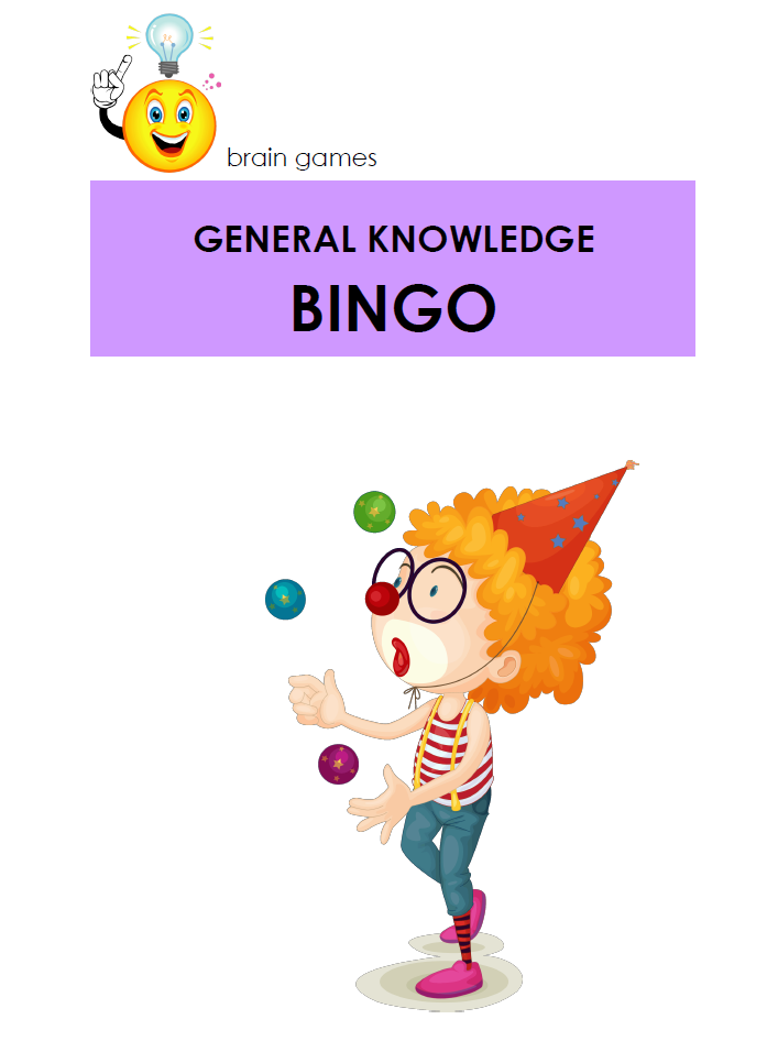 GENERAL KNOWLEDGE BINGO