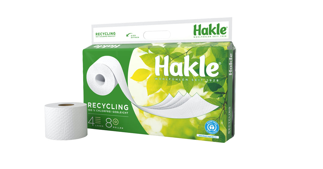 Hakle Toilettenpapier Recycling - 4-lagig