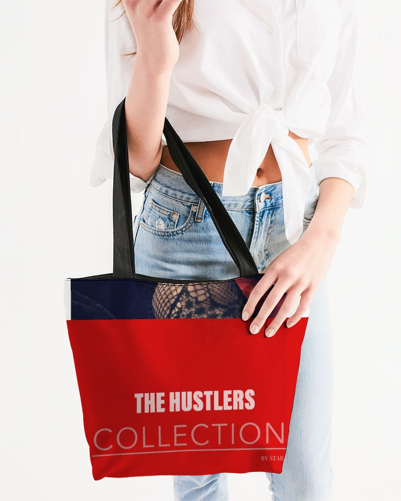 THE HUSTLE BRAND by STAR J Canvas Zip Tote
