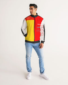 THE HUSTLE BRAND by STAR J Men's Stripe-Sleeve Track Jacket