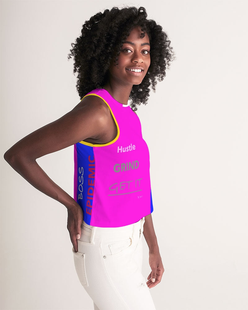 THE HUSTLE BRAND by STAR J Women's Cropped Tank
