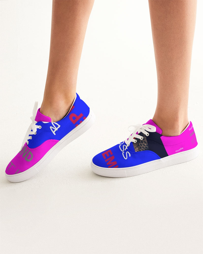 THE HUSTLE BRAND by STAR J Women's Lace Up Canvas Shoe