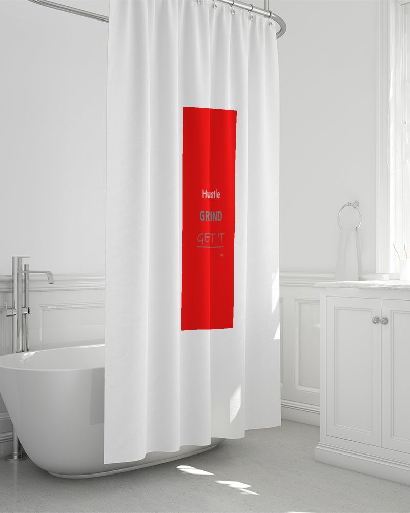 "THE HUSTLE BRAND by STAR J Shower Curtain 72""x72"""