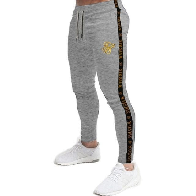 Mens Joggers Sweatpants Sik Silk Fitness Elastic Trousers Hip Hop Skinny Tracksuit Siksilk Pant Men Casual Silk Silk Track Pants