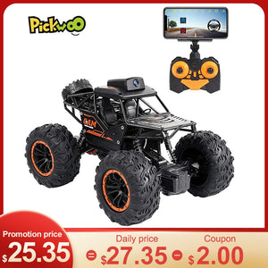 Pickwoo RC Car 2.4G 720P WIFI FPV HD Camera SUV 1:18 4WD Off-road High-speed Remote Control Drift Car Climbing Car Kids Toys