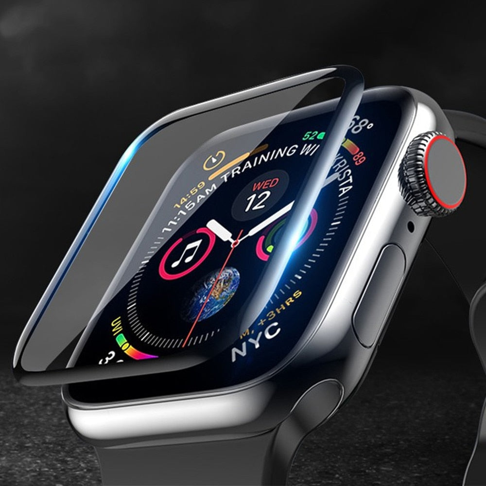 Screen Protector cover For Apple Watch band serie 5 4 3 SE 6 44mm 40mm 42mm/38mm iwatch Soft Glass for apple watch accessories