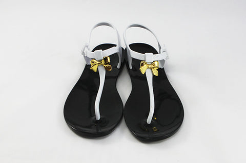 Momono Jelly Shoes Bow Monochrome