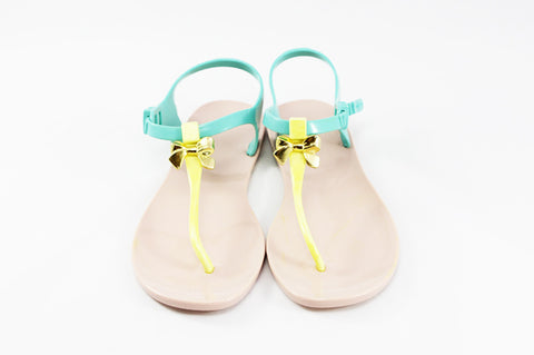 Momono Jelly Shoes Bow Pina Colada