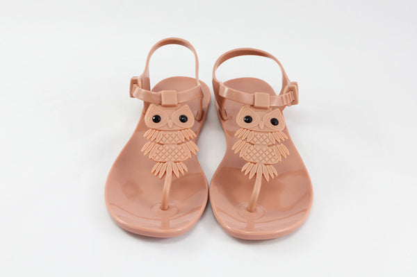 Momono Jelly Shoes Owl Nude