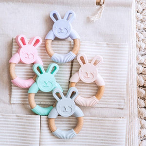Elephant & Bunny Silicone Teether