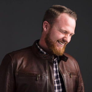 Portrait Photo of Kyle B laughing