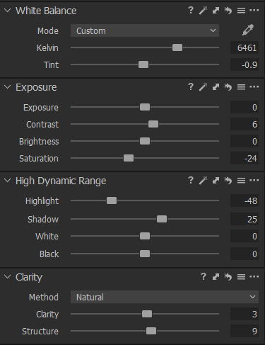 Capture One color panel