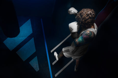 Boxing portrait from above