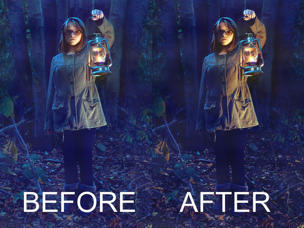 Before and After of color grading image