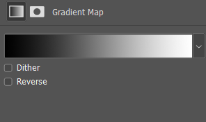 Color gradient example in black and white