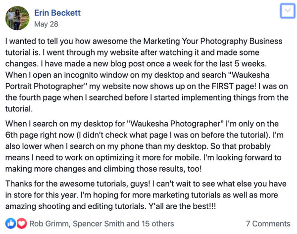Pro EDU photography marketing tutorial review