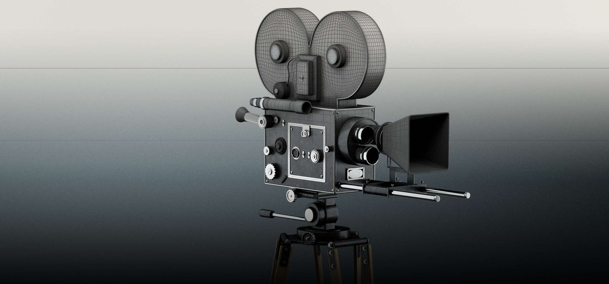 Old Fashioned Movie Camera 3D Model