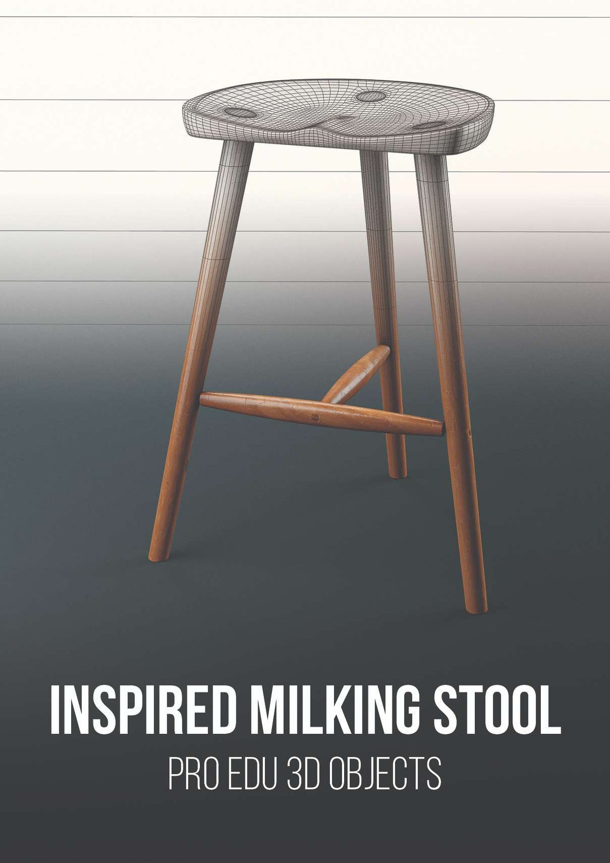 Inspired Milking Stool 3D Model