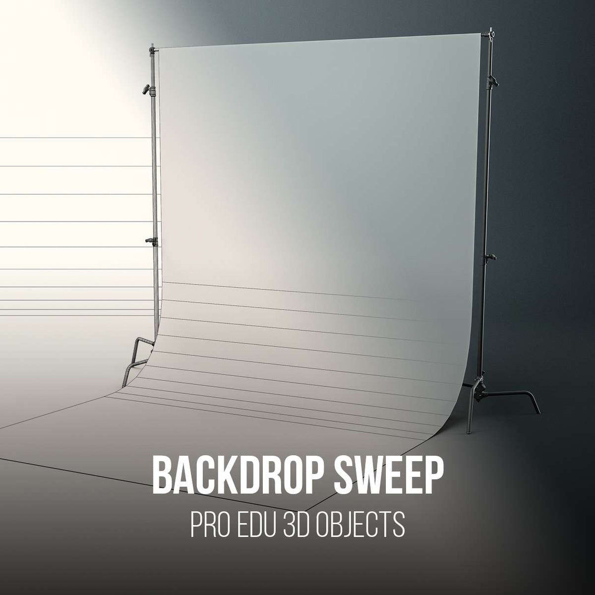 C-Stand Backdrop Support With Sweep 3D Model