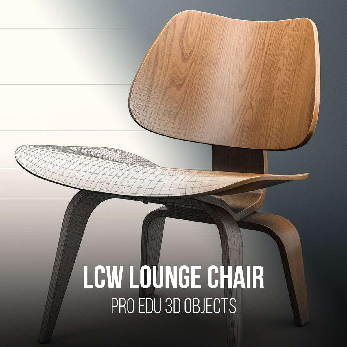 Charles & Ray Eames Herman Miller LCW Lounge Chair 3D Model