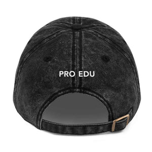 PRO EDU Vintage Cotton Twill Cap