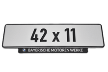 Load image into Gallery viewer, Short Number Plate Holder for BMW
